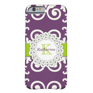 El verde púrpura del ciruelo femenino remolina funda para iPhone 6 barely there