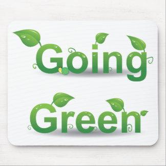 El verde que va deja Mousepad Alfombrillas De Ratones