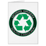 El verde que va recicla Carolina del Sur Tarjetón