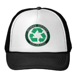 El verde que va recicla Colorado Gorros