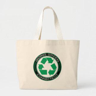 El verde que va recicla Connecticut Bolsa