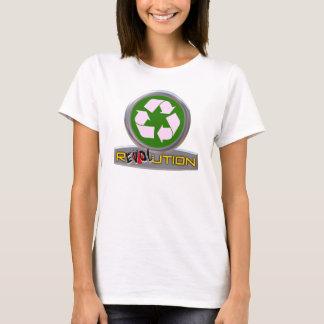 El verde que va recicla el camisetas de la
