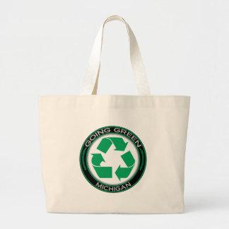 El verde que va recicla Michigan Bolsa De Mano