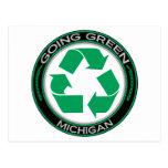 El verde que va recicla Michigan Postales