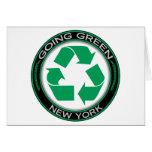 El verde que va recicla Nueva York Felicitación