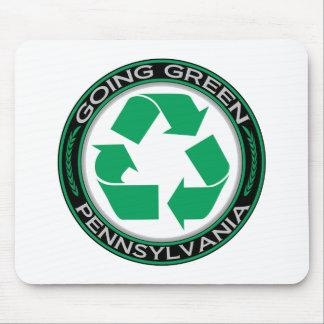 El verde que va recicla Pennsylvania Tapetes De Raton