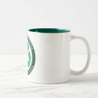 El verde que va recicla Pennsylvania Taza De Café