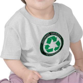 El verde que va recicla Tennessee Camisetas