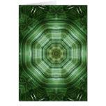 El verde raya el arte 4 del caleidoscopio tarjeton