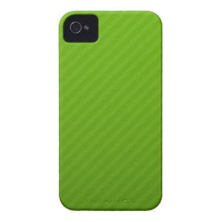 El verde raya la caja intrépida del teléfono de la iPhone 4 funda