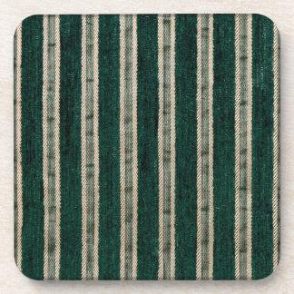 El verde raya la tela de tapicería posavasos