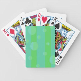 El verde raya naipes baraja cartas de poker