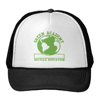 El verde recicla a la academia gorros bordados