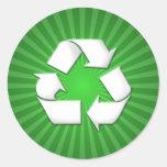 El verde recicla a los pegatinas 001