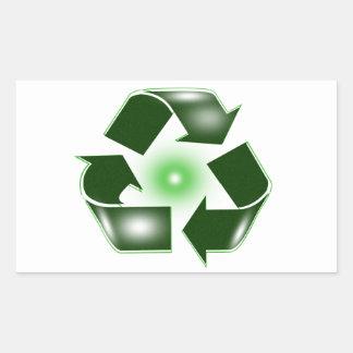 El verde recicla al pegatina del logotipo