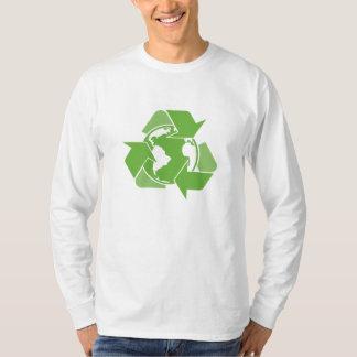 El verde recicla el reciclaje playera