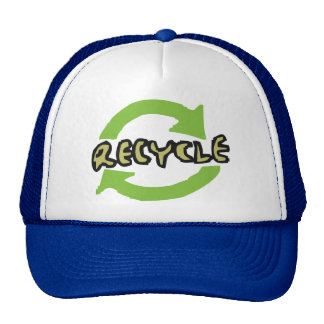 El verde recicla gorras de camionero