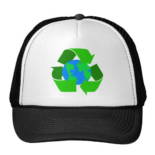el verde recicla gorro