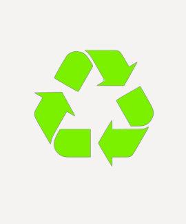 El verde recicla la camiseta playera