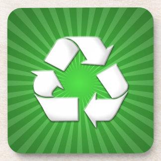 El verde recicla los prácticos de costa 0001 posavaso