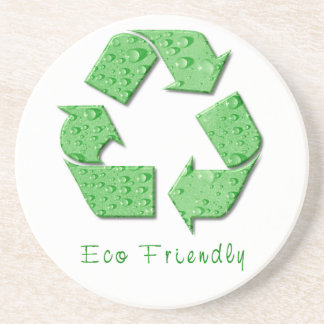 El verde recicla los prácticos de costa del símbol posavasos diseño