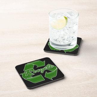el verde recicla posavasos de bebidas