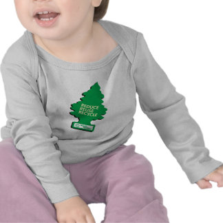 El verde recicla reduce la reutilización camisetas