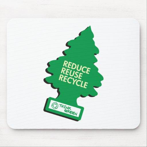 El verde recicla reduce la reutilización alfombrillas de raton