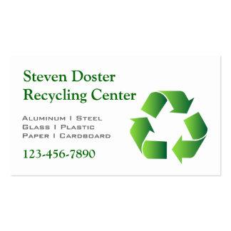 El verde recicla símbolo tarjetas de visita