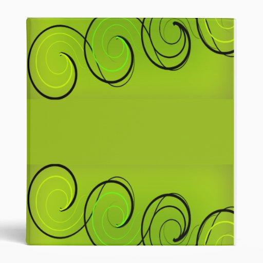 El verde remolina carpeta