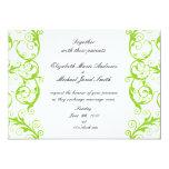 El verde remolina invitación del boda