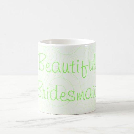 El verde remolina taza hermosa de la dama de honor