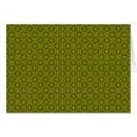 El verde retro florece Notecard Tarjeton