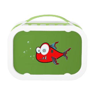 El verde rojo de los pescados embroma la escuela