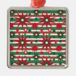 El verde rojo del día de fiesta protagoniza el mod ornamentos de navidad
