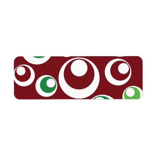 El verde rojo del navidad festivo circunda el mode etiqueta de remite