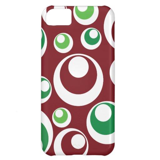 El verde rojo del navidad festivo circunda el mode funda para iPhone 5C