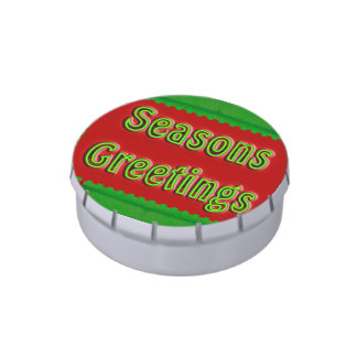 El verde rojo sazona saludos jarrones de dulces
