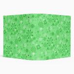 El verde romántico florece la carpeta