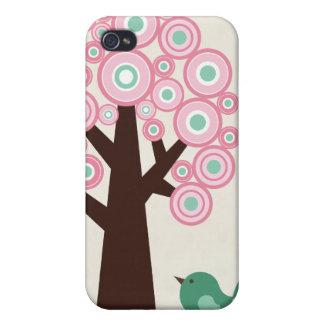 El verde rosado de moda circunda el caso del iphon iPhone 4/4S fundas