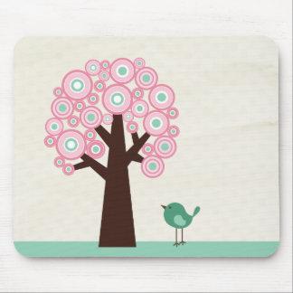 El verde rosado de moda circunda el mousepad del p