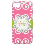 El verde rosado remolina casamata floral del iPhon iPhone 5 Carcasa