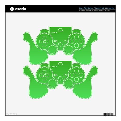 El verde se descolora mando PS3 calcomanía