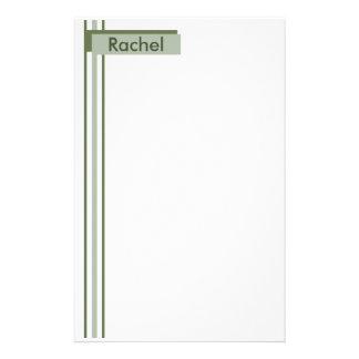 El verde simple raya los efectos de escritorio papelería