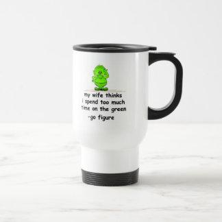 El verde tazas de café