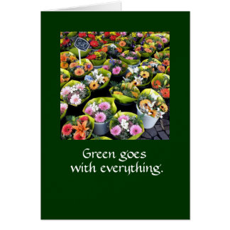 El verde va con todo.  TARJETA DE NOTA DKGR LG