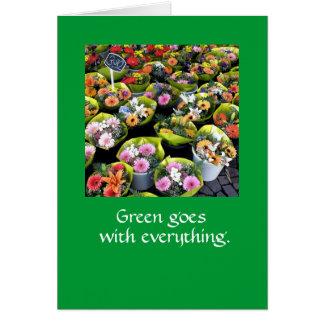 El verde va con todo.  TARJETA DE NOTA MEDGR