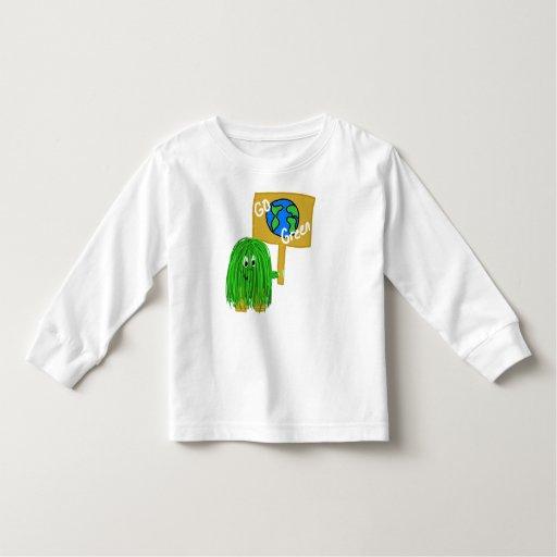 El verde va planeta verde playera de bebé