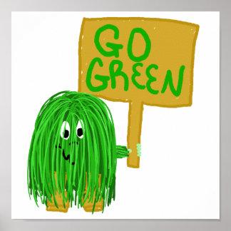 el verde va verde poster