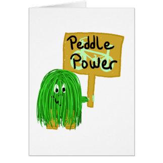 El verde vende puerta a puerta poder tarjetas